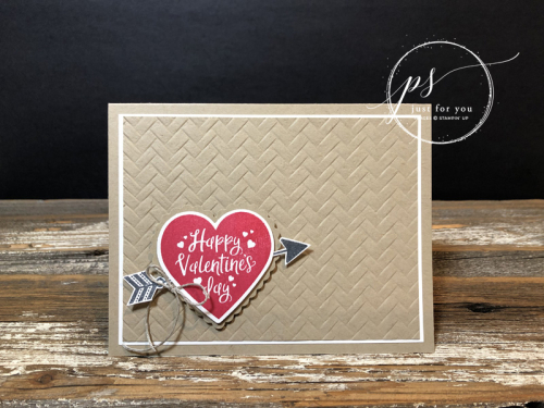 Heartfelt valentines day card