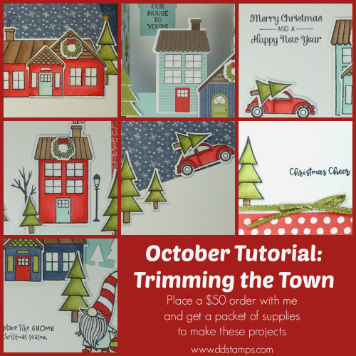October Tutorial- Trimming the Town
