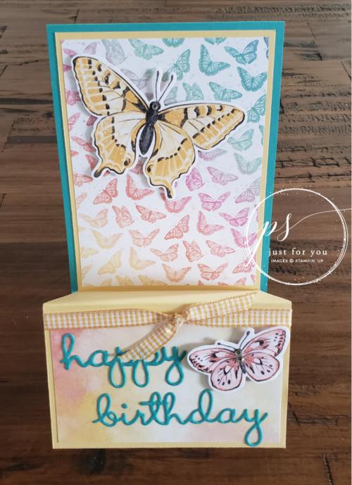 Butterfly Brilliance Fun Fold Card