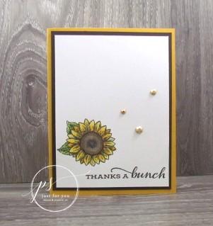 Thanks a bunch sunflower