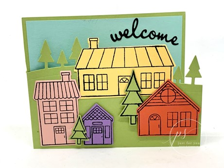 Coming home welcome card