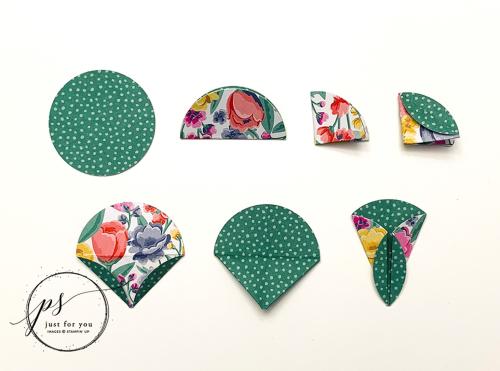 Origami Flower Card Petals