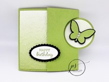 Oval Occasions Circle Flap Fold Card