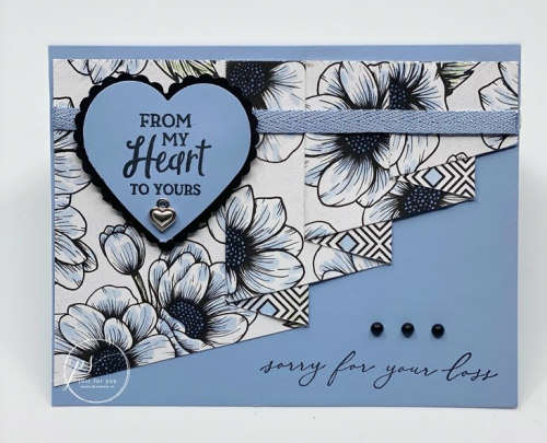 Heal Your Heart Sympathy Drapery Card