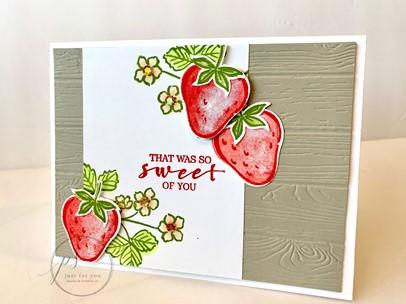 Sweet strawberry card