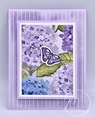 Floating & fluttering fold card
