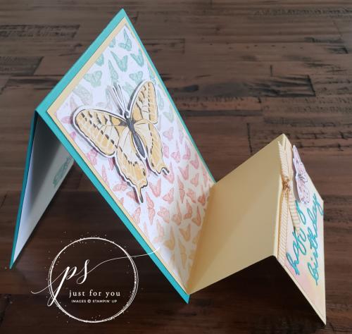 Butterfly Brilliance Fun Fold Card 3
